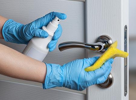 Cleaning Door Handle